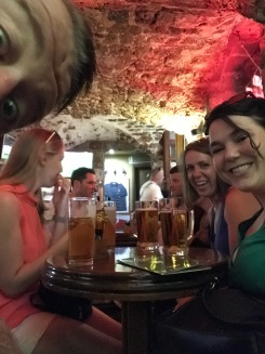 Enjoying a drink in Dubrovnik